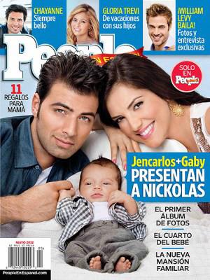 JeanCarlos Canela y Gaby Espino Junto a su Bebé Nickolas para la Revista People en Español