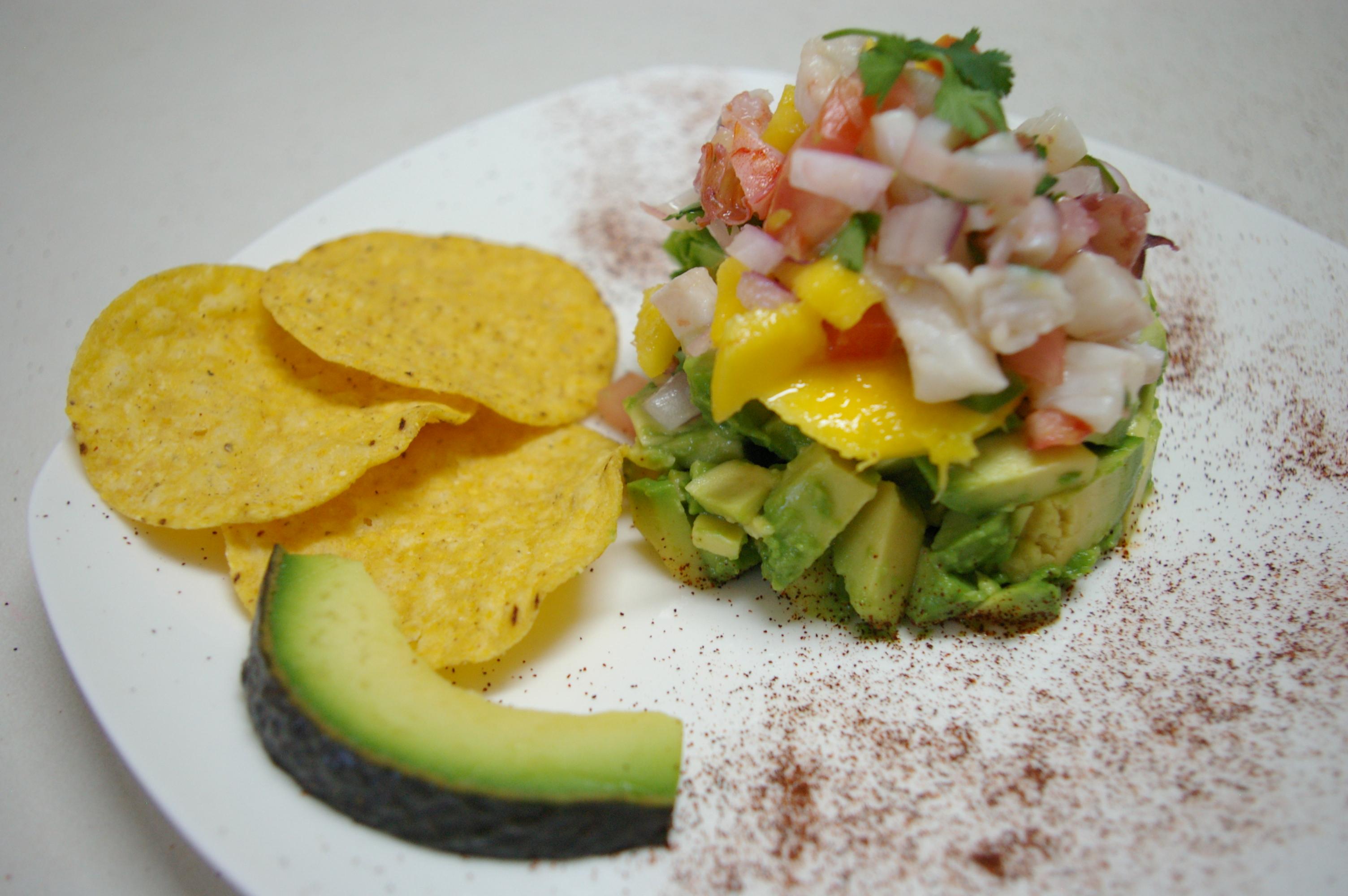 Receta de Ceviche de Mariscos con Mango, Jalapeño y Cilantro