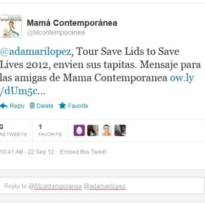 Adamari López, Tour Save Lids to Save Lives 2012