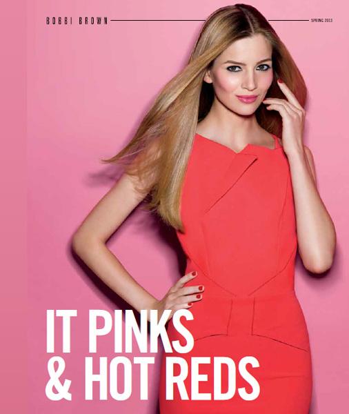 Bobbi-Brown-Spring-2013-Pink-Red-Collection-Model