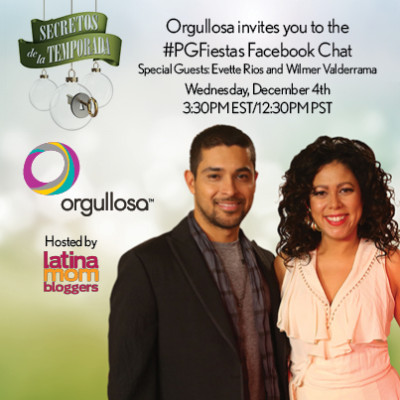 Acompañanos a una Charla en Facebook con Evette Ríos y Wilmer Valderrama junto a #PGFiestas
