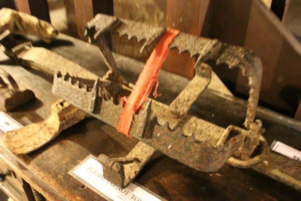 Estas trampas se utilizaban para atrapar a esclavos fugitivos.
