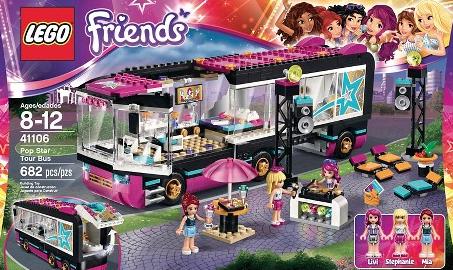 LEGOs Friends Pop Star Tour Bus $59.99