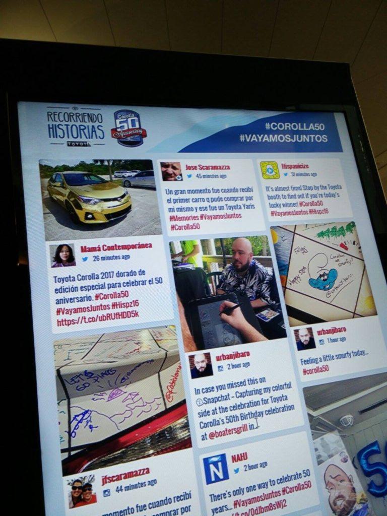 50 Aniversario del Toyota Corolla en Hispanicize 2016