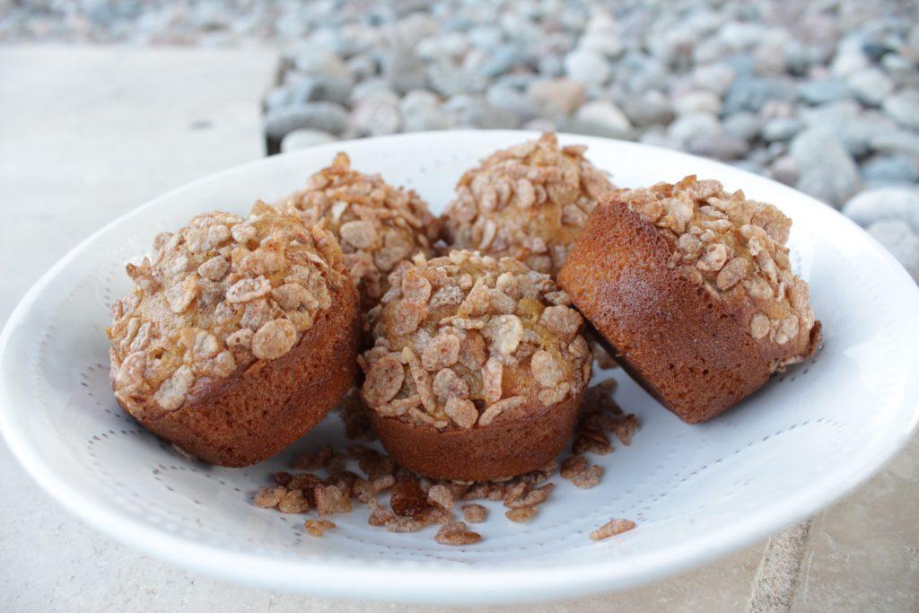 Muffins de Zanahoria con Cinnamon Pebbles